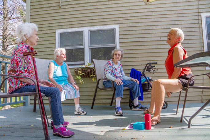 Senior chair yoga classes in Bristol, VT improve banance and mood