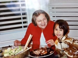 Marjorie with her grand-daughter