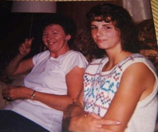 Young adult Beth with her mom